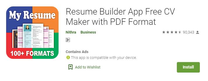 Best Resume Builder apps
