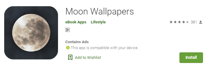 best Moon Wallpapers apps